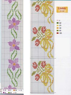 This Pin was discovered by Qui Cross Stitch Books, Cross Stitch Bookmarks, Cross Stitch Borders, Cross Stitch Flowers, Cross Stitch Designs, Cross Stitching, Cross Stitch Embroidery, Cross Stitch Patterns, Embroidery Tools