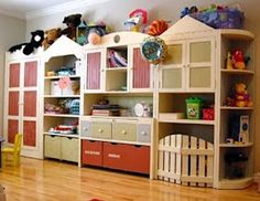 Nursery Notations: Toy Storage- dream a little dream. Huge and most likely expensive, but awesome, Toy Storage Units, Playroom Storage, Kid Toy Storage, Basement Storage, Storage Ideas, Playroom Ideas, Storage Solutions, Toy Rooms, Kids Rooms