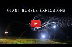 Joey Shanks of Shanks FX has created a mesmerizing video of giant bubbles exploding in slow motion. The video, produced by PBS Digital Studios, also Bubble Video, Bubble Recipe, Soccer Predictions, Giant Bubbles, Bubble Wands, Motion Video, Soap Bubbles, Great Videos, Sci Fi Fantasy