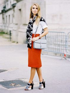 A Graphic Take on the Preppy Trend via @WhoWhatWear