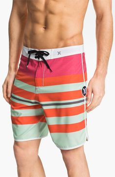 132f66653024f Hurley 'Warp Phantom Block Party' Board Shorts Mens Sleepwear, Gym Wear,  Swim