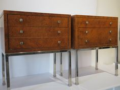 Pair Of Vintage, Mid-Century Modern Nightstands By Lane Furniture With Two Drawers And A Faux Tortoiseshell Finish by FLORIDAMODERN on Etsy