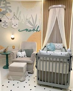 5 ideas and tips to facilitate the time to assemble the baby& room. In addition to the tips, beautiful inspirations to make your dream bedroom Baby Bedroom, Baby Boy Rooms, Baby Room Decor, Nursery Room, Kids Bedroom, Dream Bedroom, Baby Room Design, Baby Kind, Girl Room