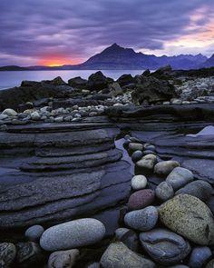 Elgol Crimson, Elgol, Skye, Scotland, beach, stones, sea, loch, Cuillin, ridge, mountains photo by Ian Cameron