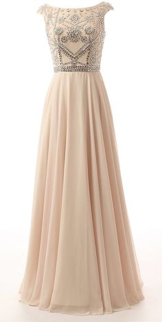 Rhinestone Crystal Chiffon Beading Formal Dress,Evening Dress,Long Prom Dress