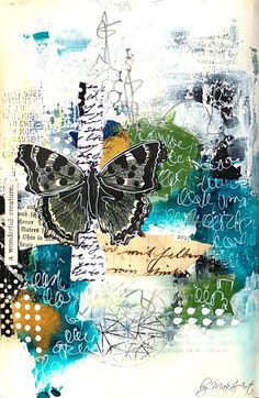 Art journal page - Hidden by the shadows... Welcome to my blog! My latest work I am sharing with you is a mixed media art journal page called Hidden by the shadows... For th...