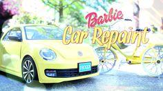 How to Repaint a Barbie Car -  Custom Repaint - Doll Crafts