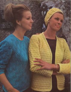Rain & Shine • 1960s Pullover Sweater Cardigan and Hat Patterns • 60s Vintage Ribbed Lace Knitting Jumper Pattern • Retro Knit PDF by TheStarShop on Etsy