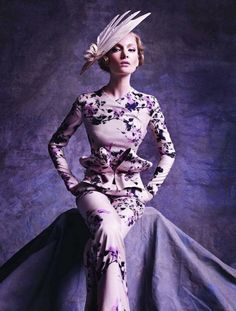 lavender purple floral pants suit