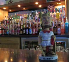 Rodney's Tavern is one of Hermann the German's favorite local watering holes, and he may be spotted there on Sunday afternoons watching Vikings games.