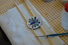 Cloisonnet... Just before firing it ..
