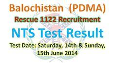 Rescue 1122 Balochistan NTS Test Result