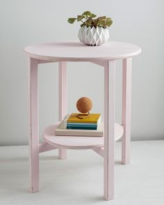 Furniture need re-vamping? Paint is an easy way to update your decor. Give your end table a fresh coat of paint, opting for an autumnal color, such as aubergine.