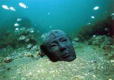 underwater ruins of Alexandria, Egypt
