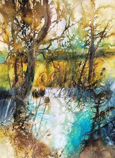 zoltan szabo paintings for sale Watercolor Trees, Watercolor Artists, Watercolor Texture, Watercolor Landscape, Abstract Watercolor, Abstract Landscape, Landscape Paintings, Watercolor Paintings, Landscapes