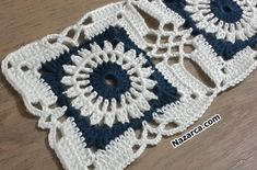 Oval crochet doily new hand crocheted doilies ecru doily - Baho Baba Crochet Squares Afghan, Granny Square Crochet Pattern, Crochet Blocks, Crochet Stitches Patterns, Crochet Motif, Crochet Doilies, Crochet Car, Crochet Projects, Knitting