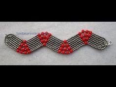 Bracelet Making (Herringbone Technique) - BİLEKLİK - Bileklik Yapımı ( Herringbone Tekniği ) Bracelet Making Herringbone Technique With Video Show Tutorial Colar, Necklace Tutorial, Diy Schmuck, Schmuck Design, Bracelets Design, Jewelry Design, Seed Bead Jewelry, Beaded Jewelry, Crystal Jewelry