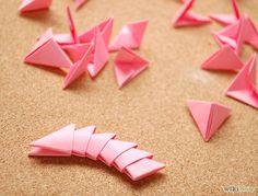 3D Origami Teile machen