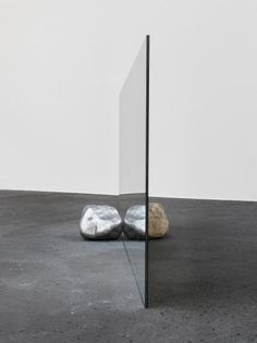 Alicja Kwade Andere Seite (The other side), 2012 Iron, stone, mirror 60 x 50 x 140 cm