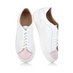 KACHOROVSKA / white leather sneakers
