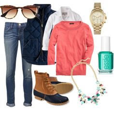 Colorful Bean Boot Winter, created by mills-k on Polyvore