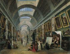 Projet d'aménagement de la Grande Galerie du Louvre» Hubert Robert