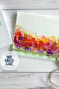 Field of Flowers – Abstract Impressions stamp set from Stampin' Up! – Ink Paper Girl with Katrina Duffell Independent Stampin' Up! Demonstrator Sydney Australia, Colourful cards, floral cards, Colour revamp, card making, papercraft, rubber stamping, greeting cards, feminine cards, stampin' up annual catalogue 2018-2019, shop craft supplies Australia,