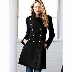 Buttonline+doble+envoltura+de+las+mujeres+Outwear+–+EUR+€+46.77