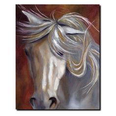 Have to have it. Horse Odyssey in White II Canvas Art by Michelle Moate - $54.99 @hayneedle.com