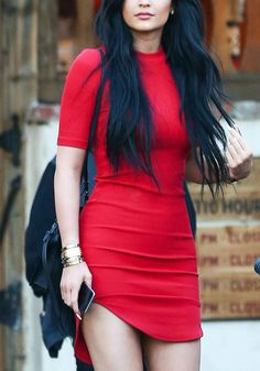 Let your romantic side out. And while you're at it, wear this red curved-hem bodycon dress as you go on a mushy date with your man. Shop here. #lookbookstore #FashionClothing