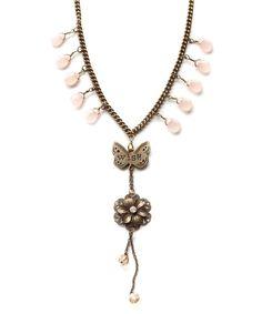 Gold 'Wish' Pendant Necklace $15