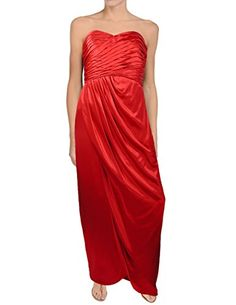 Kay Unger Strapless Draped Silk Evening Gown Size 8 Red *** Find out more about the great product at the image link.