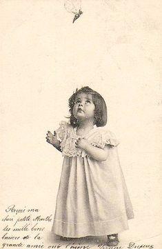Vintage Postcard ~ Little Girl   Flickr - Photo Sharing!