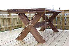 Roger's Hytteside Rustic Kitchen Tables, Kitchen Table Bench, Rustic Table, Tabletop, Outdoor Tables, Outdoor Decor, Rustic Chair, Garden Table, Picnic Table