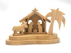 Handmade Wooden Toys, Christmas Nativity Scene, Wood Toys, Made In America, Woodworking Tools, I Shop, Hardwood, Miniatures, Mineral Oil