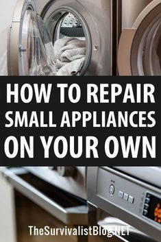Repairing your own appliances could be a lifesaver pre and post SHTF, when repairmen of any kind may not be available. Small Appliance Repair, Survival Prepping, Emergency Preparedness, Survival Gear, Survival Quotes, Pre And Post, Small Appliances, Life Savers, Home Repair