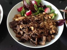 Sizzling beef steak (Jamie's 15 minute meals). Another really simple and tasty supper.