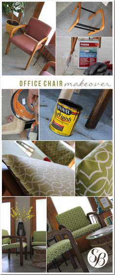 Office Chair Makeover : from drab to fab! {Simply Bloom Blog}