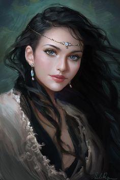Девушки Бывают Разные ( Красивые портреты в цифровых штрихах )