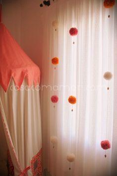 65 Ideas baby decor room pom poms for 2019 My Room, Girl Room, Baby Room Decor, Bedroom Decor, Home Crafts, Diy Home Decor, Pom Pom Crafts, Curtain Designs, Diy Curtains