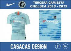 TERCERA CAMISETA CHELSEA 2018 - 2019 VECTOR - Casacas Design Pumas, Yokohama, Psg, Manchester City, Camisa Chelsea, Sport T Shirt, Tees, Shirts, Soccer