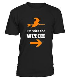 CHECK OUT OTHER AWESOME DESIGNS HERE!     Great I'm with the witch tee For Couples Halloween Costume or Anytime If Your Girl Has A Sense Of Humor. Fun Holiday Gift for Men or Women.   Fun Halloween Party Shirt or Cheap Quick Costume. Fall Office Party, Couples Party, Costume Party. Trunk or Treat, Handing out Candy with the Wife. I have Ghost & Frankenstein to pair with this shirt.