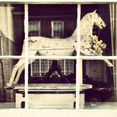 Vintage wooden horse #interiors