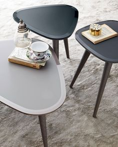 Fifties, coffee table, wood and painted glass
