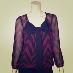 Large Bow Front Blouse. Brand new blouse from Izbyer. Size M. Izbyer Tops Blouses