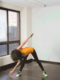 8. Standing Crossover Toe Touches #standing #abs #workout http://greatist.com/move/abs-workout-best-abs-exercises-you-can-do-standing-up