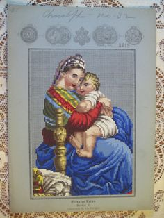1879 Religious Set 8 Berlin Hand Painted Wool Work Embroidery Tapestry Pattern | eBay