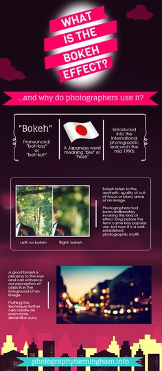What is the Bokeh Effect?   #Photography #photographer #infographic