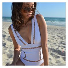 Beachside with @drawdressdream  wearing our Polished B'Os Necklace.