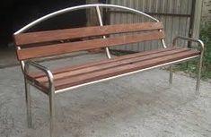 Imagen relacionada Metal Furniture, Garden Furniture, Outdoor Furniture, Outdoor Decor, Bed Design, Chair Design, Outdoor Restaurant, Wrought Iron, Metal Working